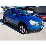 1/2008 Nissan Dualis Ti (4x4) J10 4d Wagon Blue 2.0L