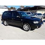 8/2003 Subaru Forester XT MY04 4d Wagon Black 2.5L