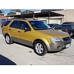 6/2005 Ford Territory TS (rwd) SX 4d Wagon Gold 4.0L