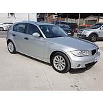 11/2005 BMW 118i E87 5d Hatchback Silver 2.0L