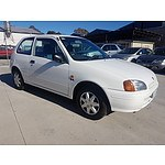 2/1998 Toyota Starlet LIFE EP91R 3d Hatchback White 1.3L