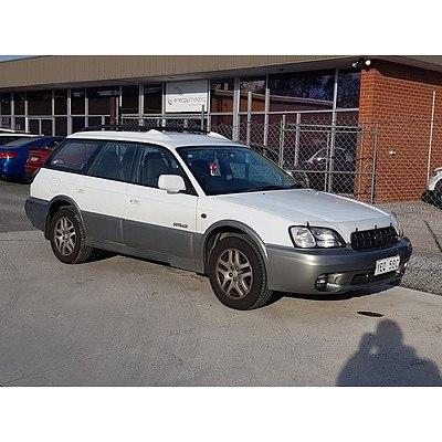 9/2000 Subaru Outback  MY01 4d Wagon White 2.5L
