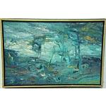 Ronald Grenville Millar Landscape 1975 Oil on Board