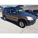 6/2002 Honda CRV (4x4) MY02 4d Wagon Brown 2.4L