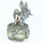 Veronese Cast Metal Fairy Jewellery Box