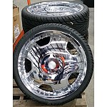 Set Of Four BSA Motorsports 20 Inch Alloy Wheels With Tyres
