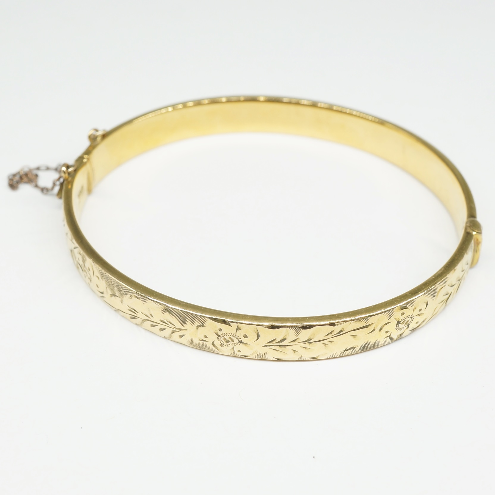 'Rolled Gold Hinged Bangle'