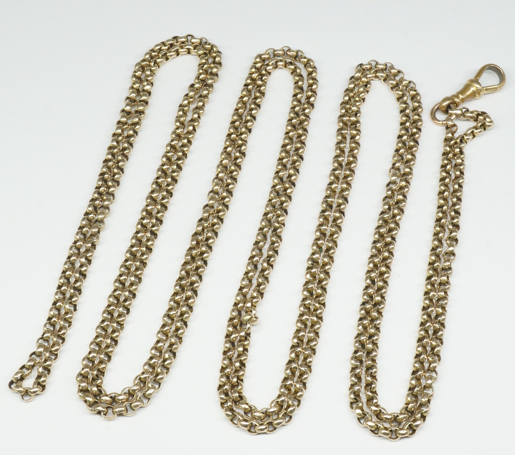'9ct Yellow Gold Belcher Muff Chain'