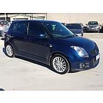 4/2008 Suzuki Swift Sport EZ 5d Hatchback Blue 1.6L