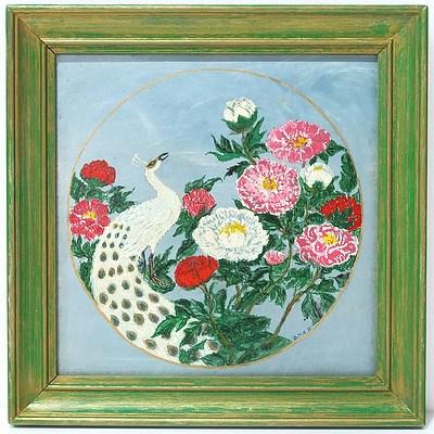 Barbara Hammond Flowers Oil on Tile