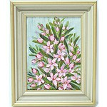 D.Frances Hackney Pink Wax Starflower Oil on Board