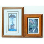 Two Framed Offset Prints