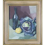 Osu Walker Still Life with Wine and Cabbage