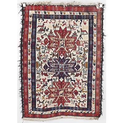 Eastern Tribal Flat Weave Rug