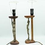 Pair of Art Deco Diana Lamps
