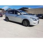 10/2011 Hyundai I30 cw SLX 1.6 CRDi FD MY12 4d Wagon Silver 1.6L