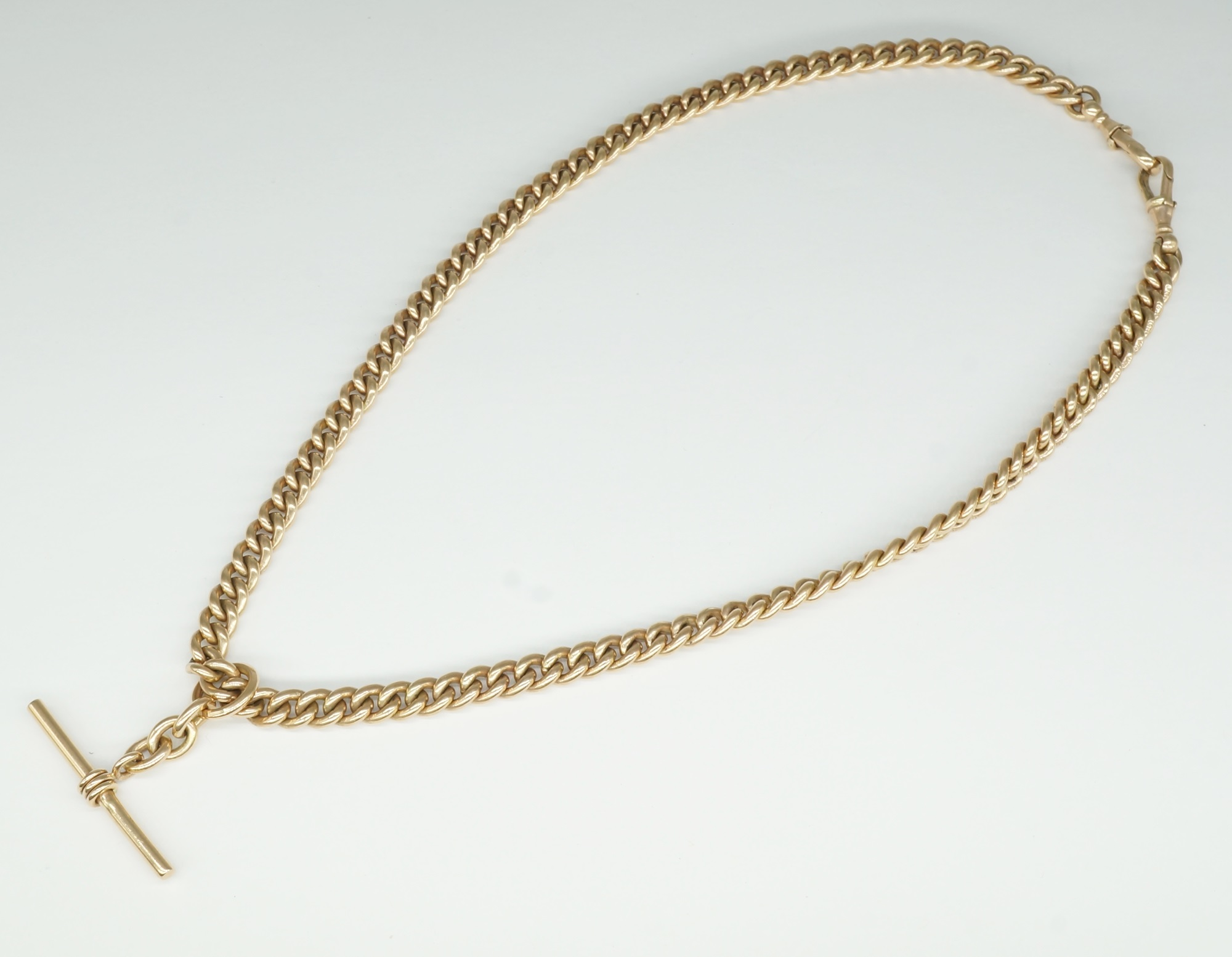 '9ct Rose Gold Fob Chain '