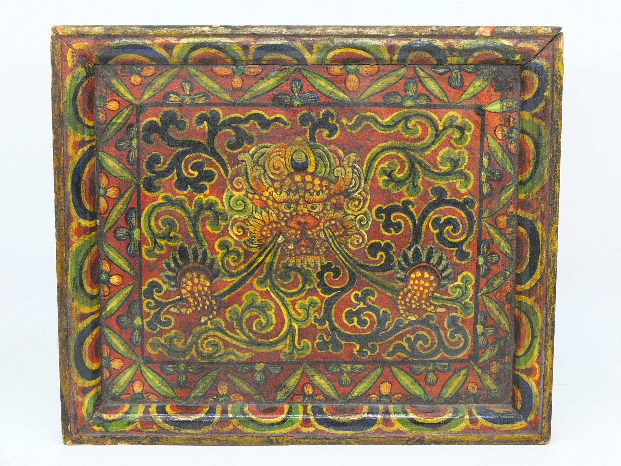 'Vintage Tibetan Hand Painted Panel'