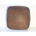 Vintage Asian Hand-Woven Storage Basket