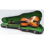 Circa 1970's Parrot Violin Acoustic 4-String 4/4 Size Violin