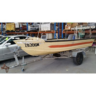 Waterways Freeboarder 13½ft Fibreglass Dinghy with Trailer