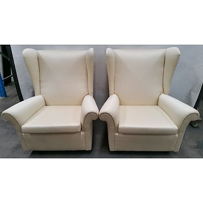 Wingback Armchairs - Lot of Two