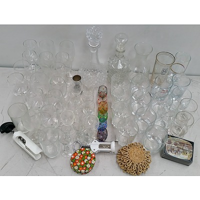 Selection of Drink Ware and Bar Ware