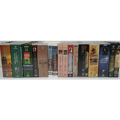 VHS Video Cassette Movie and Television Series - Lot of 42