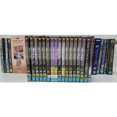 DVD's of Movies, Music and Television Series - Lot of 100