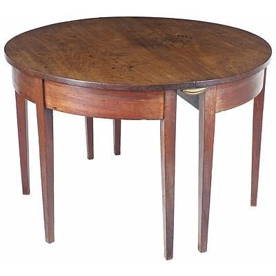 George III Mahogany D-End Supper Table Circa 1800