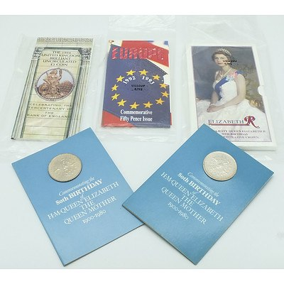 Group of Commemorative Coins Including Her Majesty Queen Elizabeth II 70th Birthday