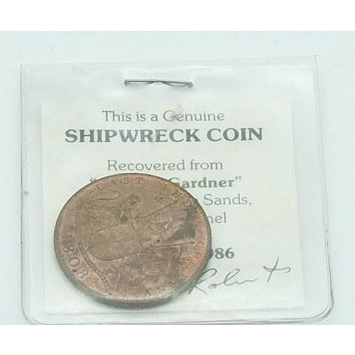 1808 East India Company Genuine Shipwreck Coin