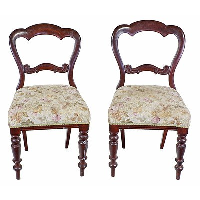Pair of Victorian Mahogany Dining Chairs