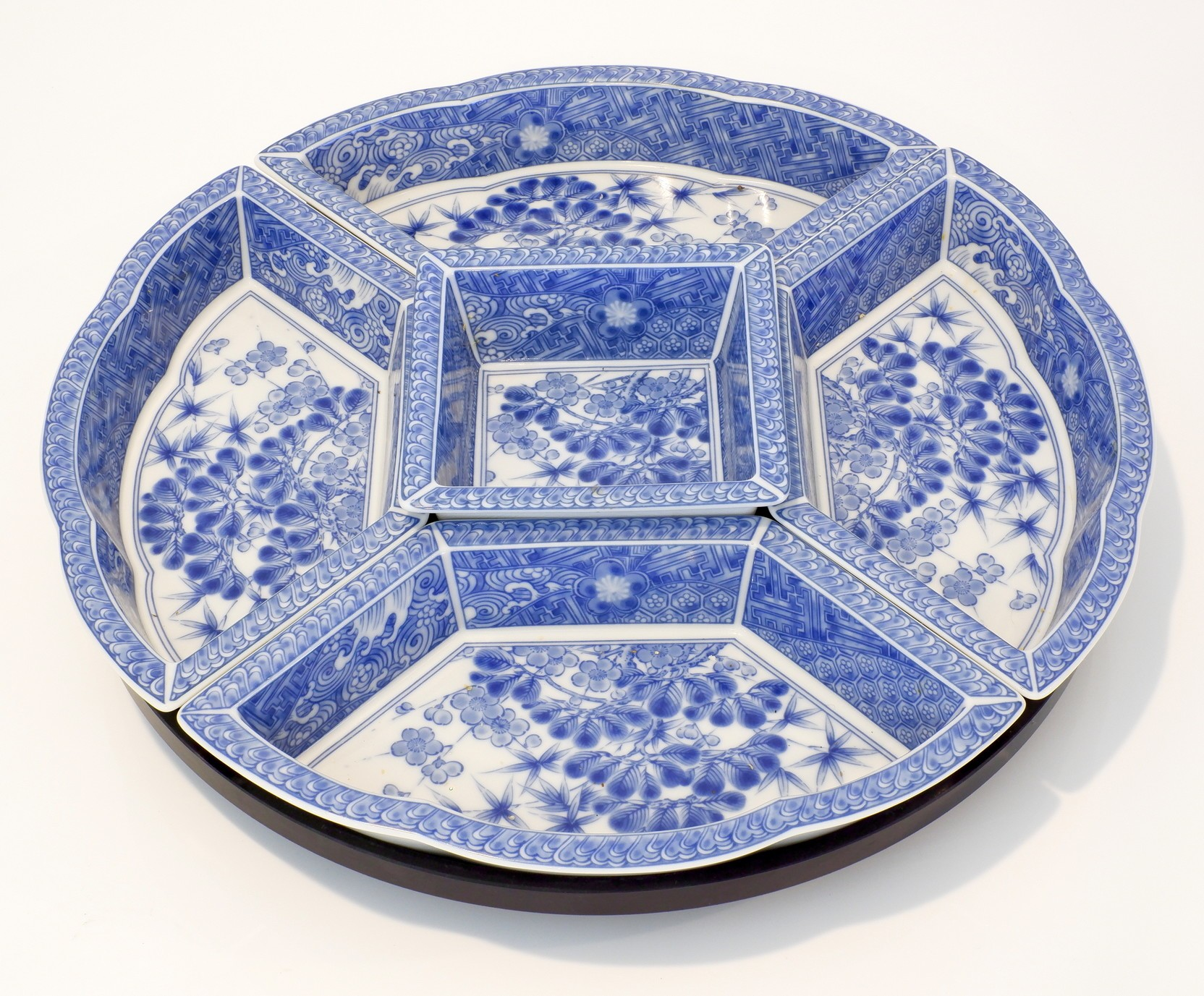 'Japanese Blue and White Lazy Susan'