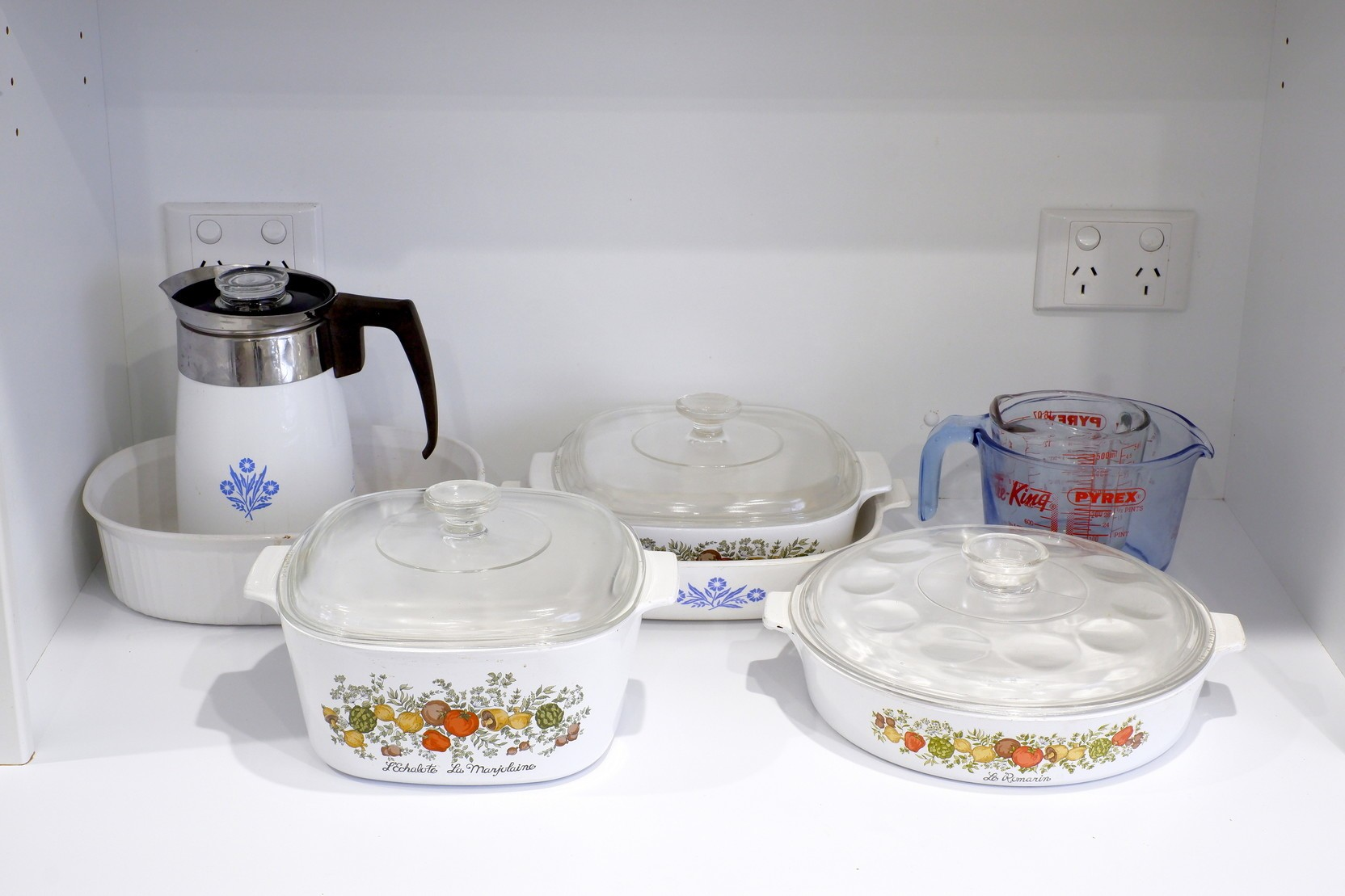 'Group of Pyrex and Corning Ware'