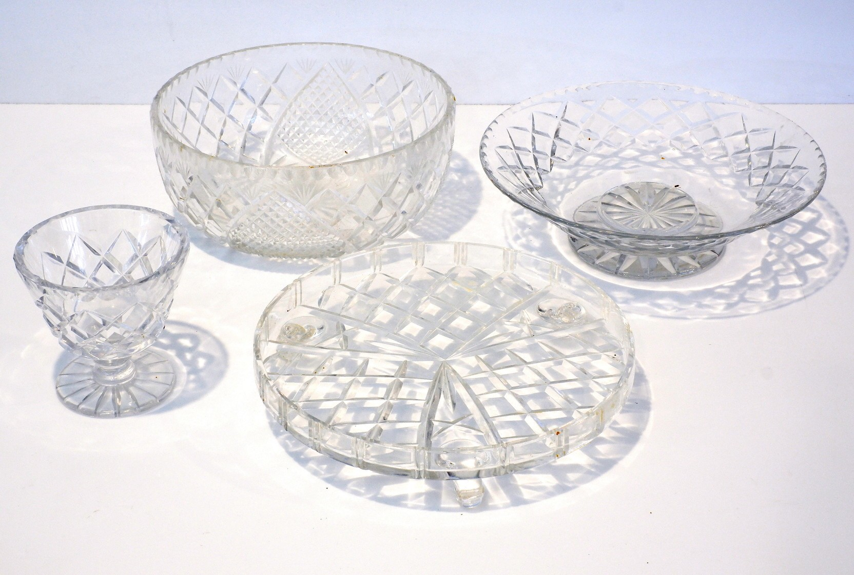 'Group of Cut Crystal Bowls, Including Webb etc'