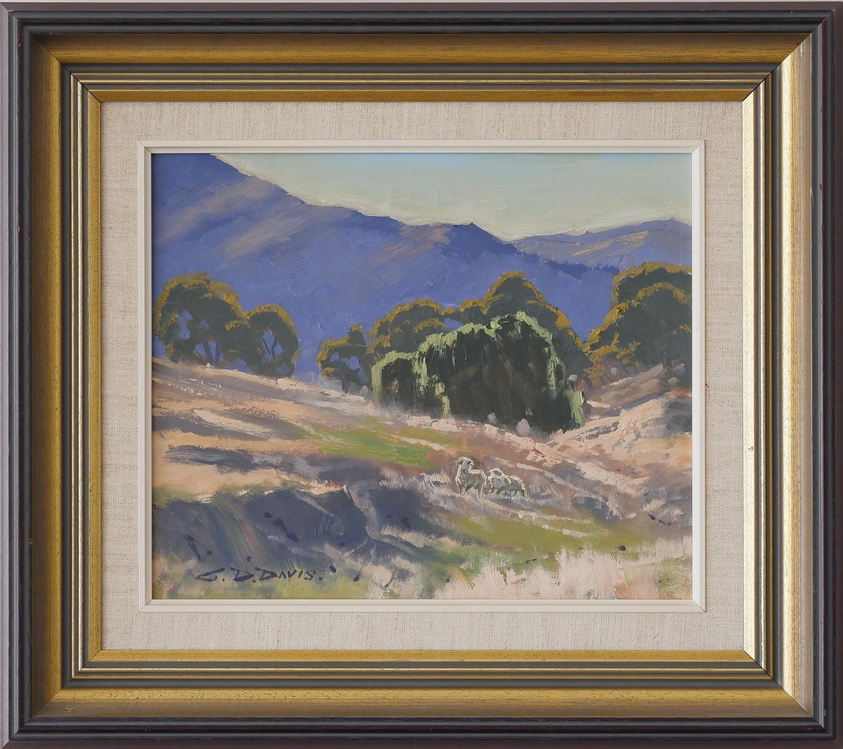 'Geoffrey Davis (1926-) Monaro Pastoral Scene Oil on Board'