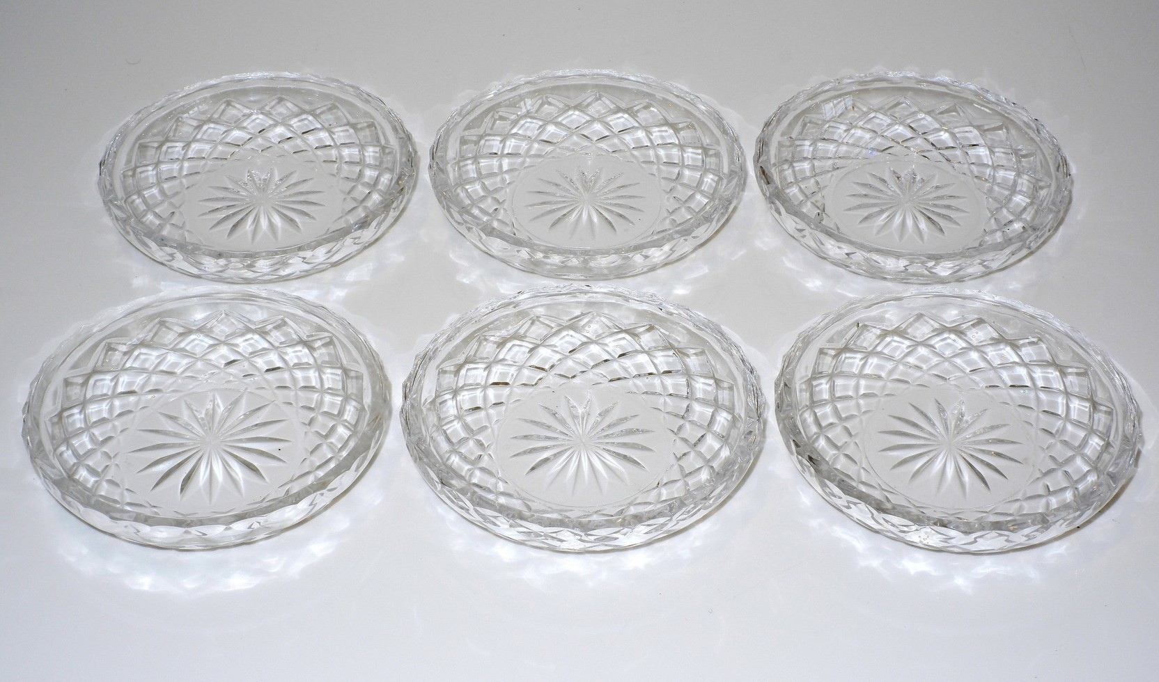 'Six Cut Crystal Side Dishes'