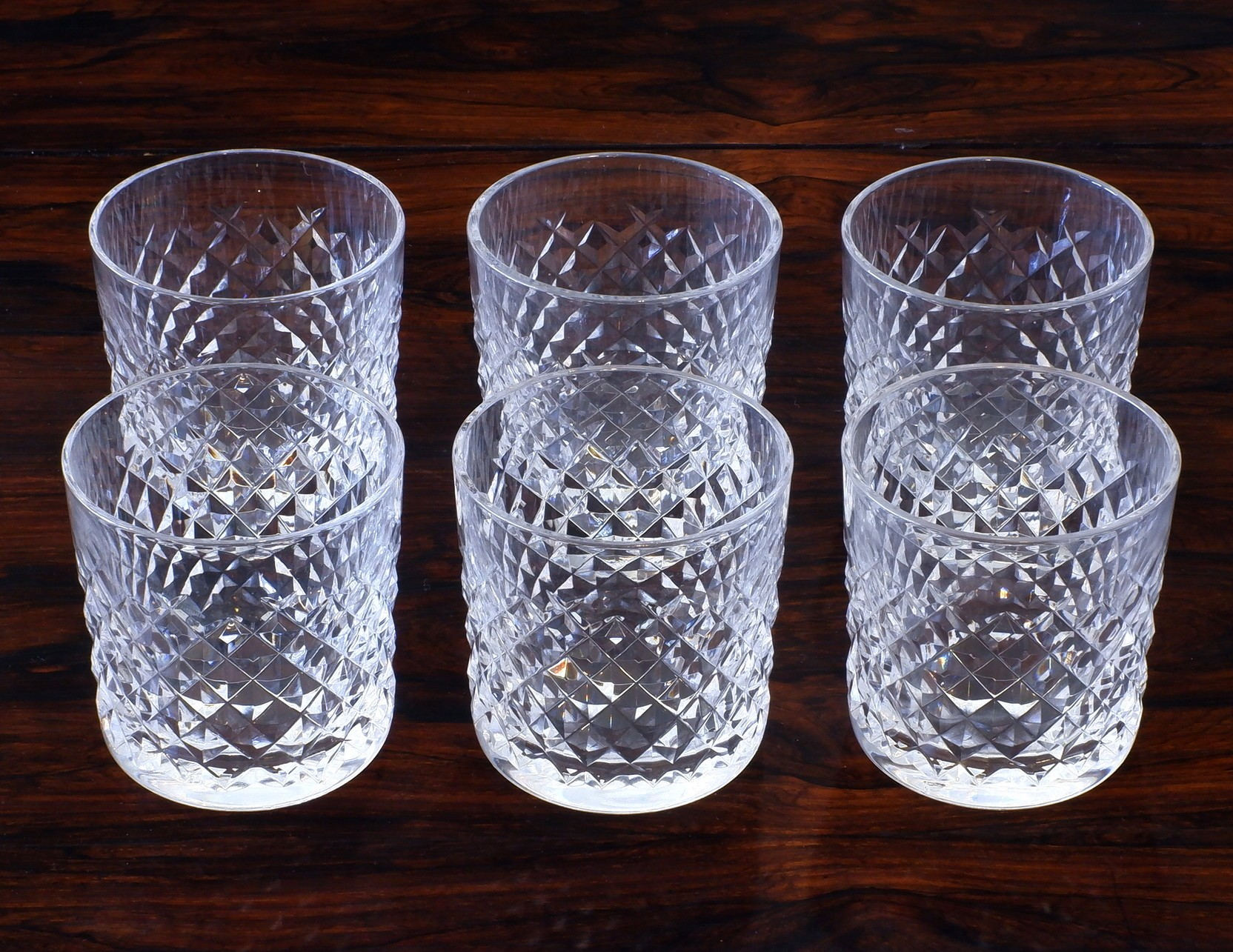 'Six Waterford Cut Crystal Whiskey Tumblers'