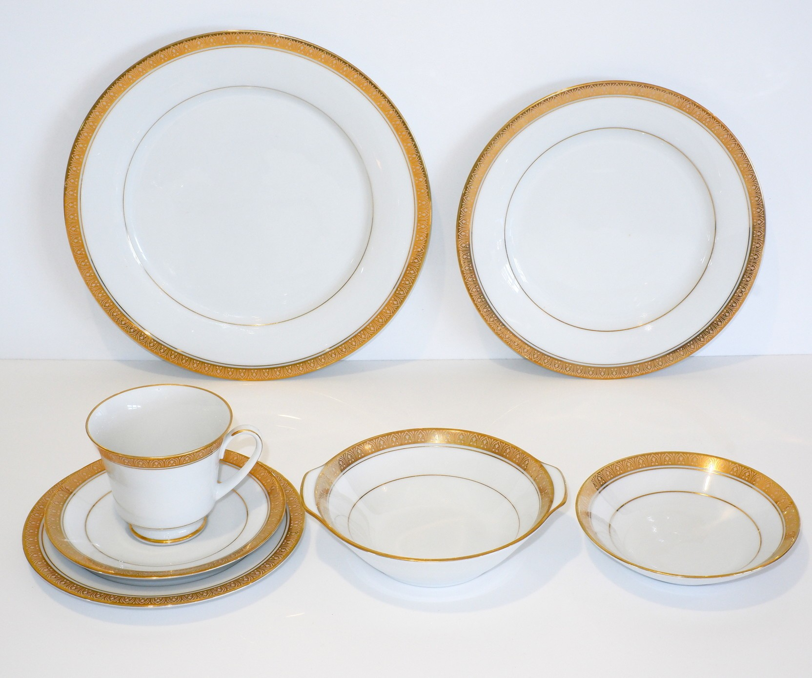 'Six Person Dinner Setting with Spares of Noritake Tiara Pattern'