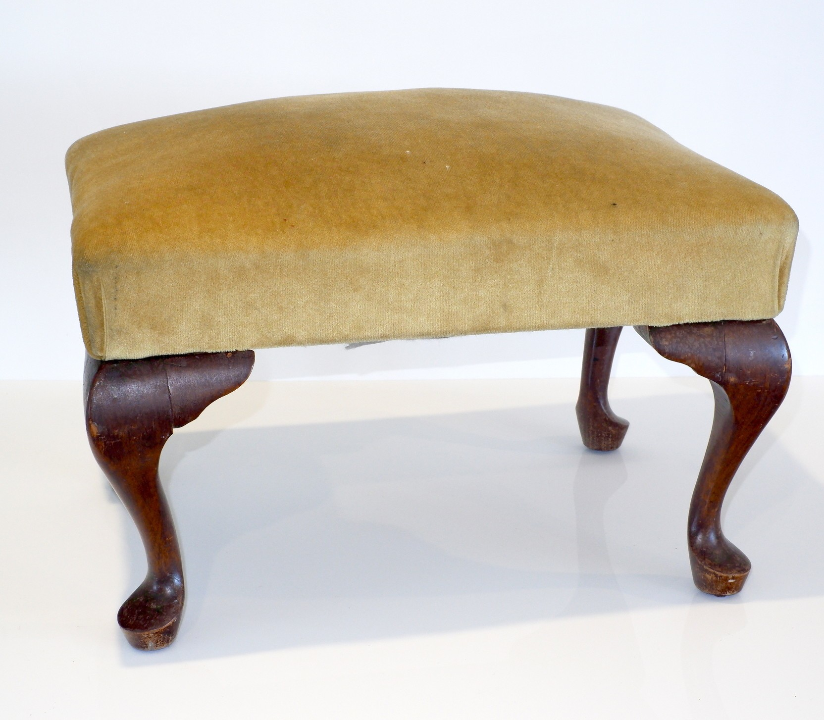 'Vintage Footstool with Cabriole Legs'
