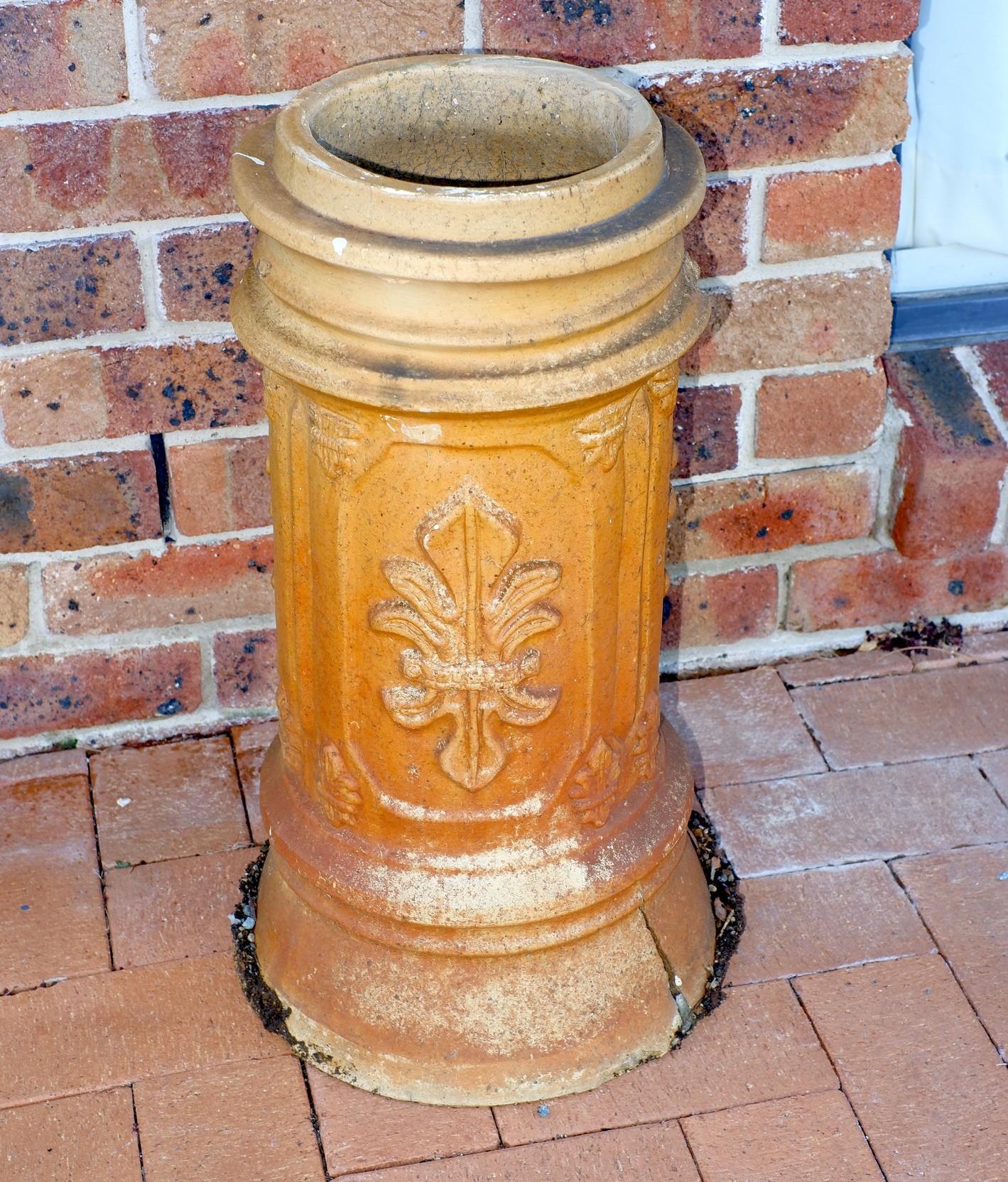 'Salt Glazed Stoneware Chimney Pot'