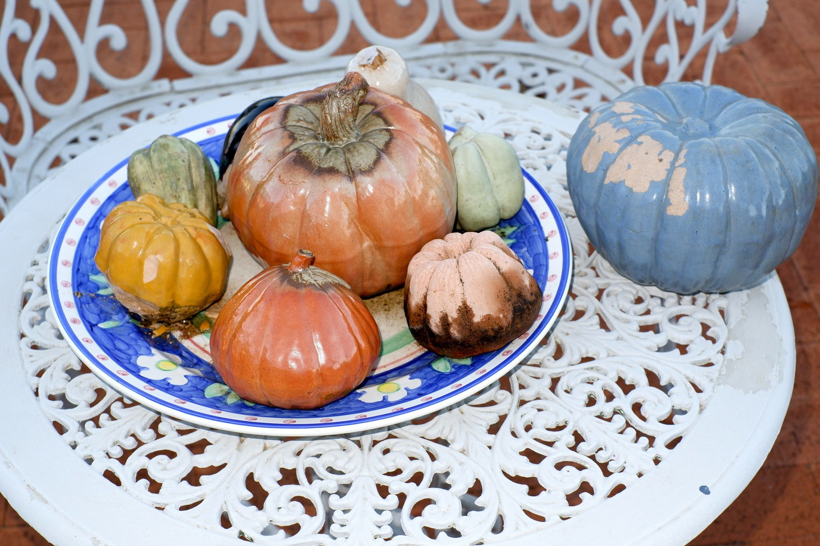 'Group of Glazed Ceramic Fruit'