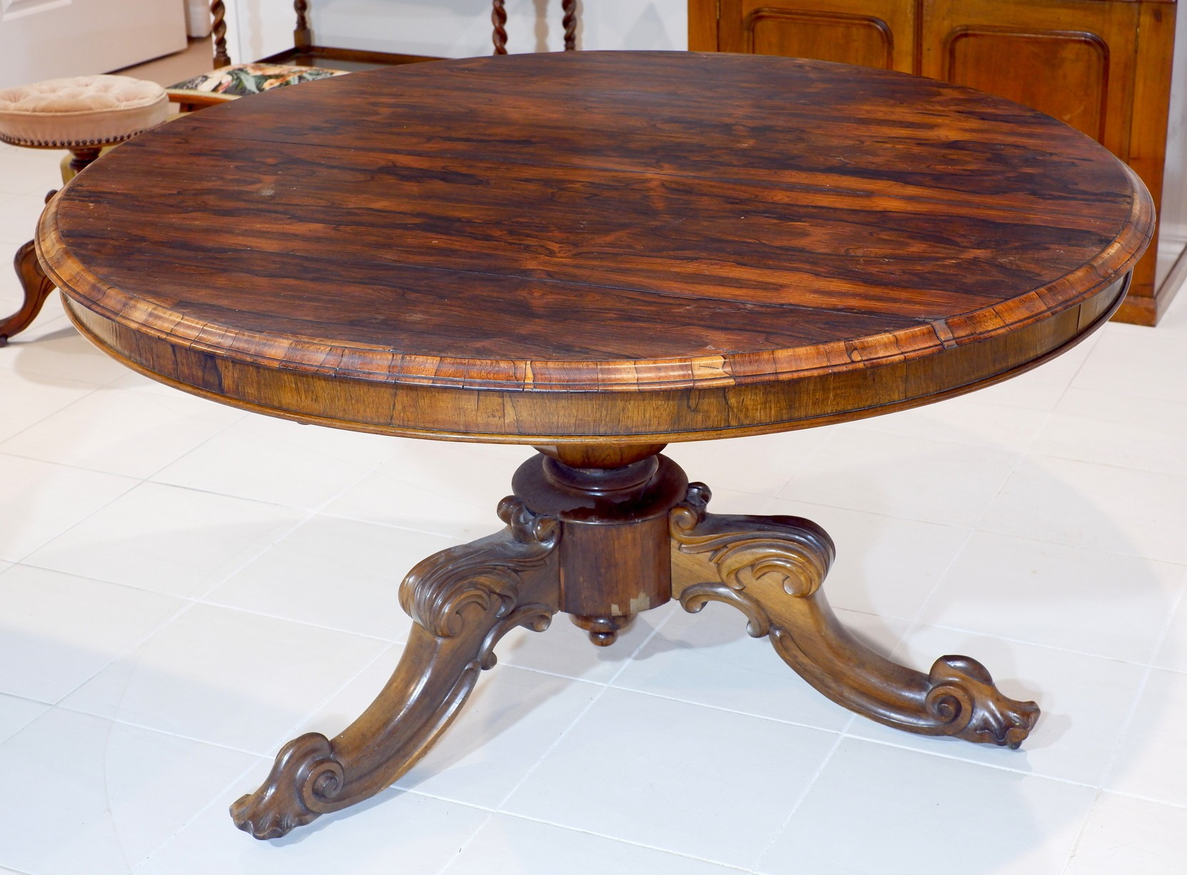 'Early Victorian Brazilian Rosewood Breakfast Table Circa 1850'
