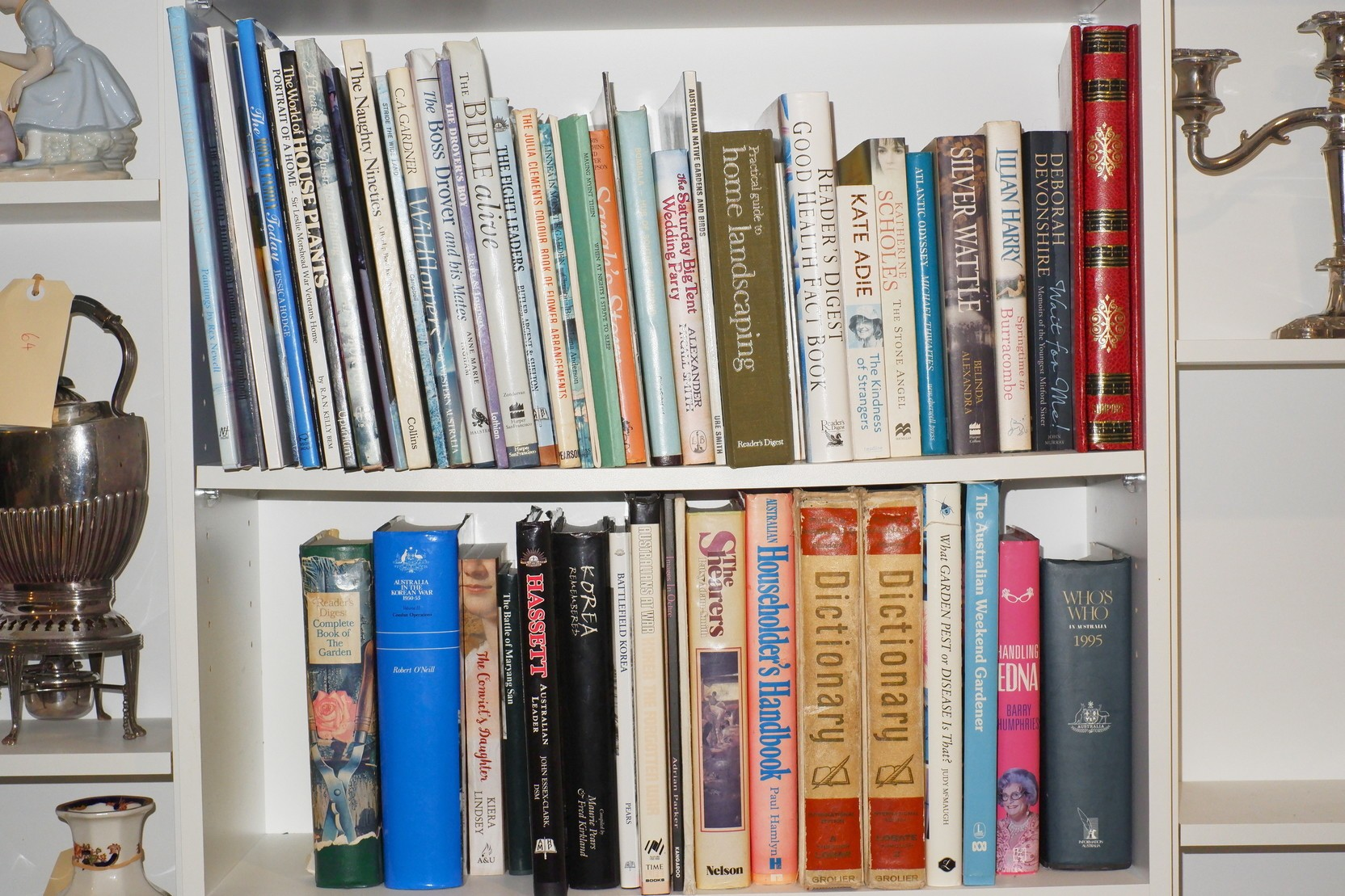 'Large Group of Books, Including Gardening, History, Novels and More'