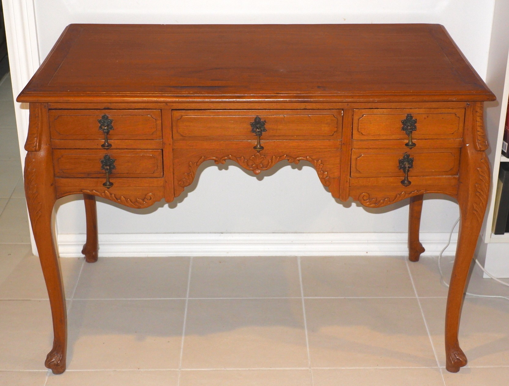 'Anglo Colonial Teak Desk'