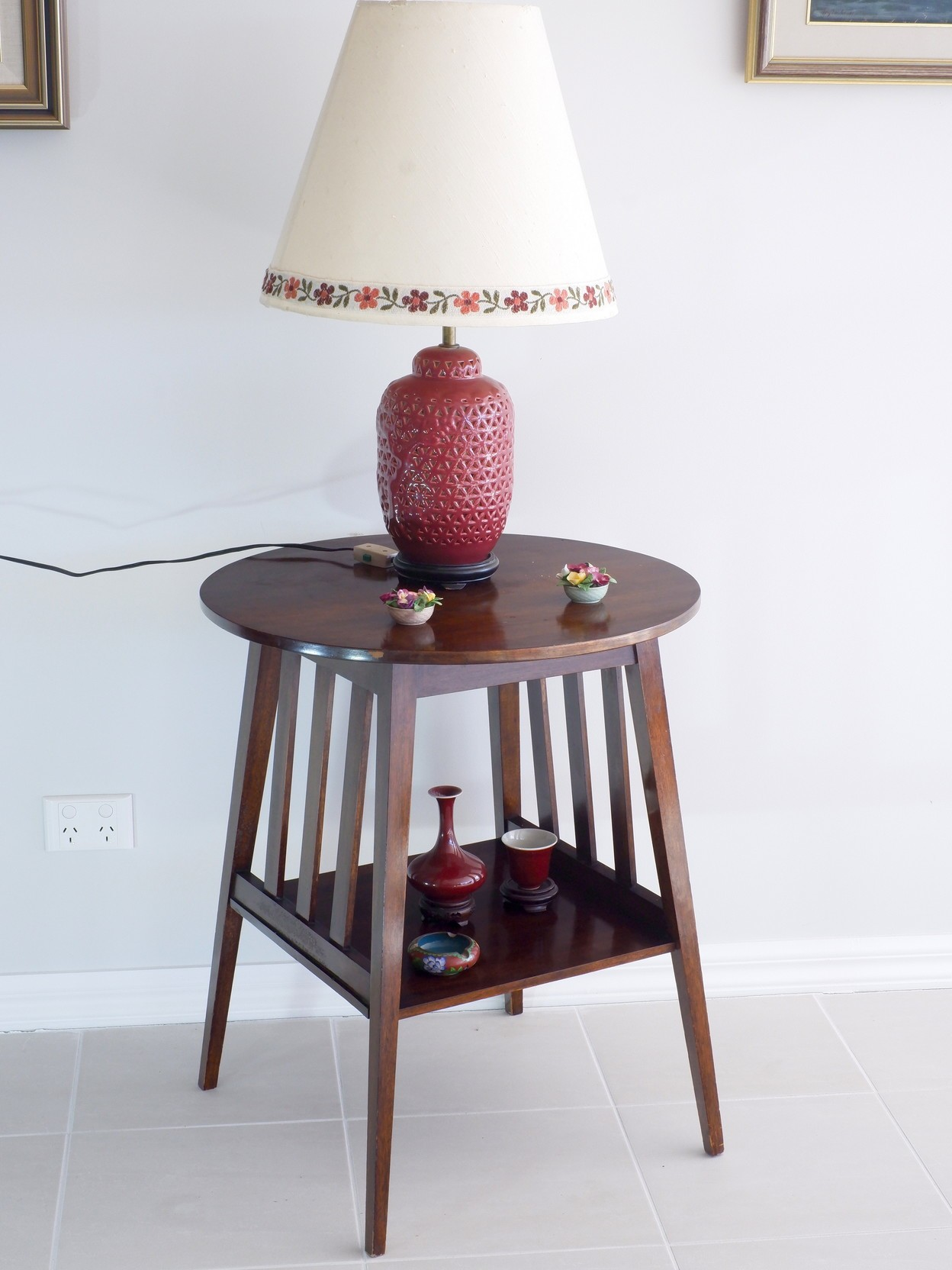 'Edwardian Maple Lamp Table Early 20th Century'