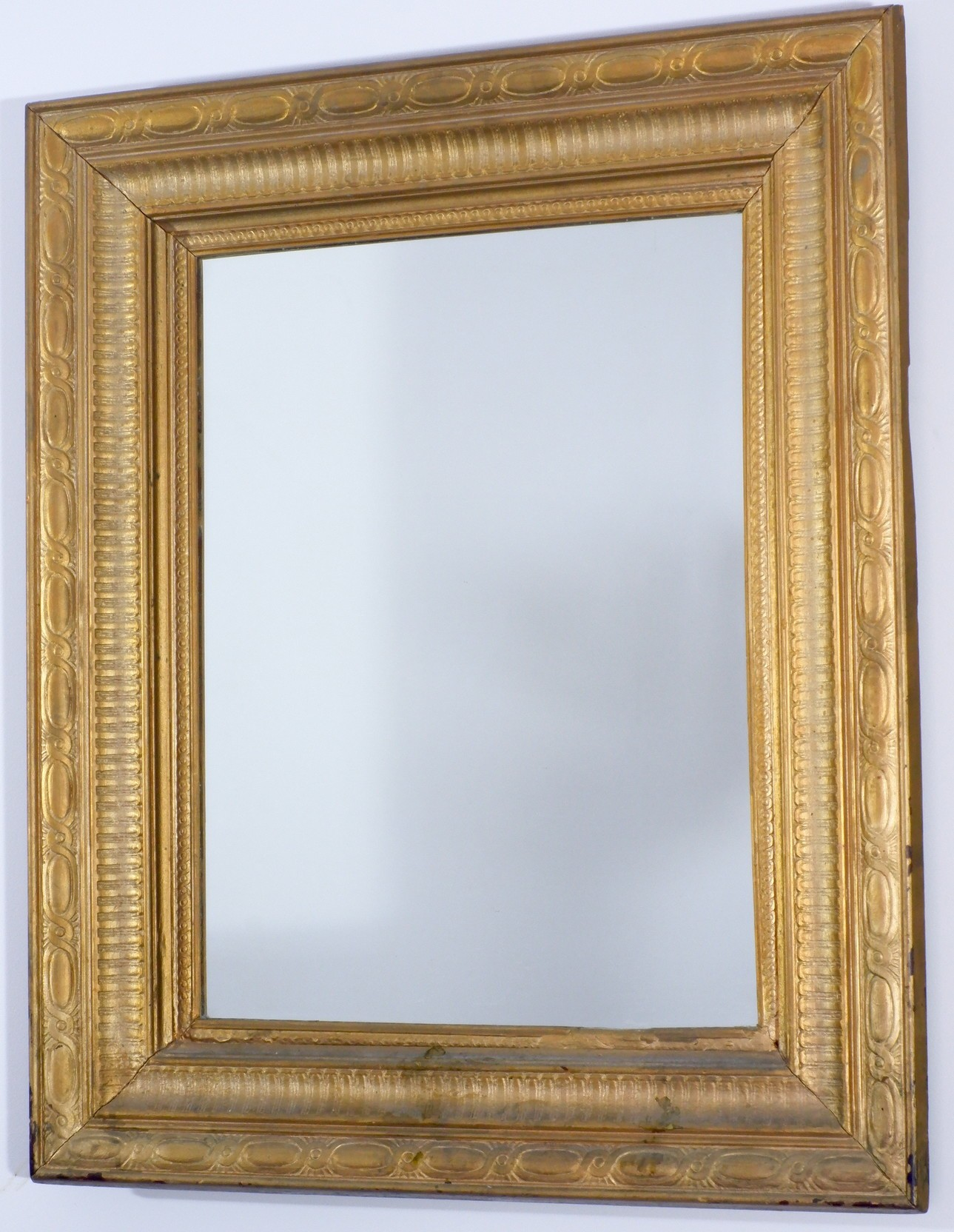 'Antique Gold Painted Press Moulded Wood Mirror'