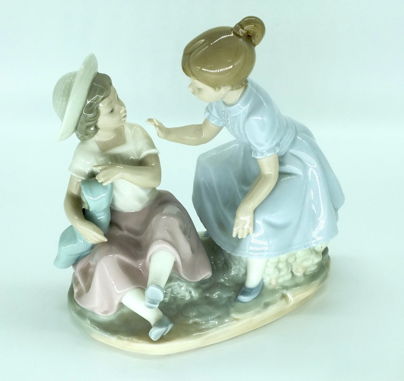 'Nao Playing Children Porcelain Figural Group'