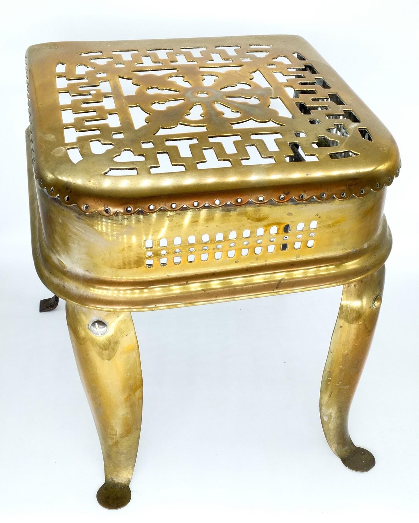'Antique Georgian Pierced Brass and Iron Footman'